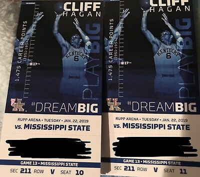 Kentucky Wildcats vs Mississippi State Basketball tickets