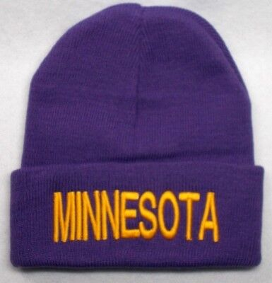 13a06bee0 Minnesota Vikings Team  Color  3D Direct Embroidered Beanie Knit Cap hat!