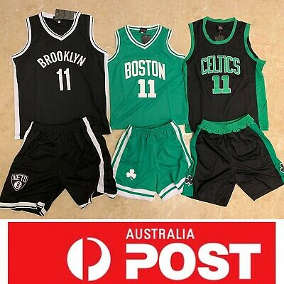best value 73820 5f3f2 BOSTON CELTICS KYRIE Irving jersey set, kids size, black or green colour