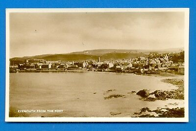Eyemouth From The Fort.real Photographic Postcard