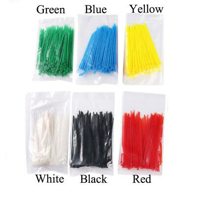 """Cable Zip New Nylon Cabling 3*100mm Plastic Wire 4"""" Tie 100pcs Network X Tag"""