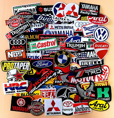 Iron On Patch/ Sew Embroidered Motor GP Racing Motorcycle Bike Logo & Sponsor