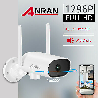 ANRAN 1080P Wireless Outdoor CCTV Night Vision IP Camera For NVR Security System