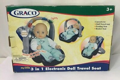 GRACO TOLLYTOTS Baby Doll Carrier Car Seat - Feet Cover -Fits Dolls ... 7ab57da7ace