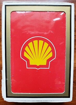 Shell Oil Pecten Plastic Coated Deck Of Playing Cards