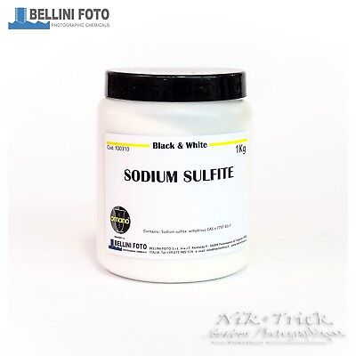 Bellini Sodium Sulfite (Anhydrous) 1kg  Highest Grade Raw Photographic Chemistry