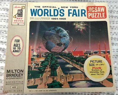 1964 NY World's Fair Official Milton Bradley Unisphere Puzzle, Never opened