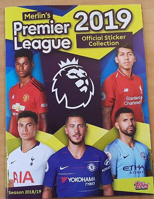 Merlin Topps 2019 Premier League Sticker Collection numbers 1 - 100