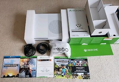 Microsoft Xbox One S 1 TB includes Battlefield and Minecraft games