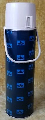 Vintage 1960s King Seeley Thermos Blue Metal w Glass Insert Quart Made in USA