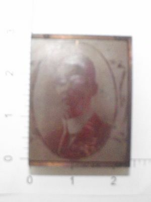 Rare Young Mans Portrait Vintage Wood Mounted Printing Press Block S.23