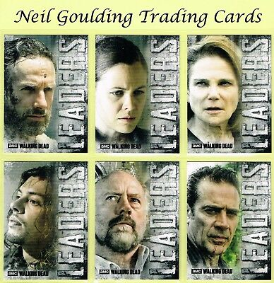 The Walking Dead - HUNTERS & THE HUNTED ☆ LEADERS ☆ Insert Cards #L-1 to #L-9