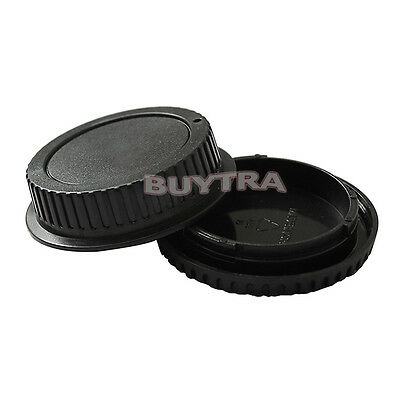 Body Cover + Lens Rear Cap for CANON EF Camera + Lens Protect Useful Nice ^F