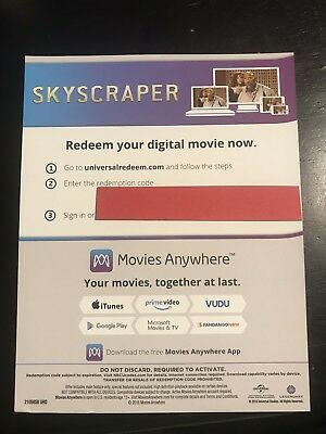 Skyscraper    Digital Movie Code Only