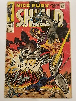 Marvel Comics Nick Fury #2 Agent Of Shield Good 2.0+ 1St Centurius Avengers 1968