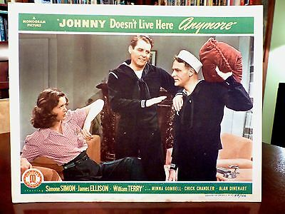 Simone SIMON, James ELLISON Lobby Card JOHNNY DOESN'T LIVE HERE ANYMORE (1944)