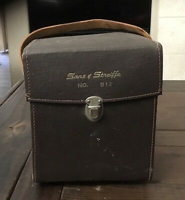 Sans And Streiffe #512 - Vintage Microscope With Carrying Case & Accessories