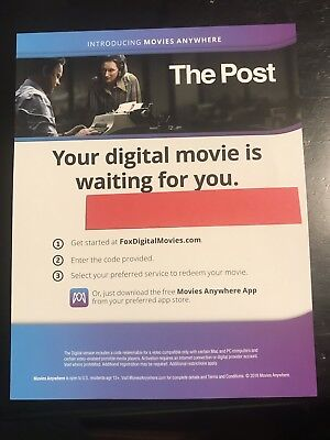 The Post  Digital Movie Code Only