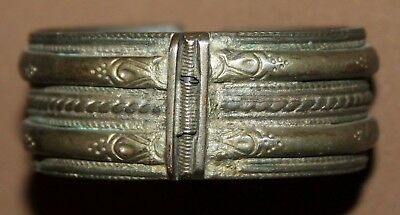 Antique Greek Hand Made Silver Plated Bracelet
