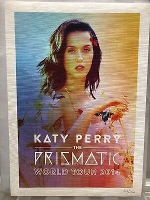Katy Perry Prismatic World Tour 2014 Rare VIP Numbered Litho Print