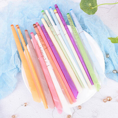 10Pcs Earwax Candles Hollow Blend Cones Beeswax Ear Cleaning Massage Treatm PLV