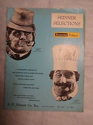 S. P. SKINNER SELECTIONS BOSSONS ARTWARE Vintage Catalog Printed In England