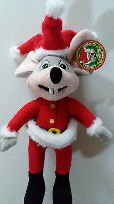Chuck E Cheese Limited Edition Santa Suit Jester Soft Plush Doll New 2018 12""