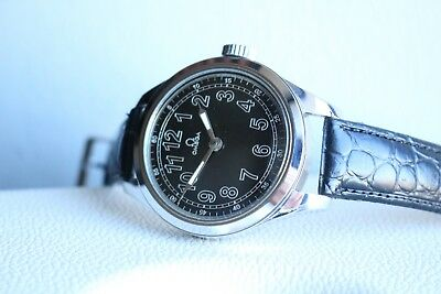 OMEGA Vintage 1928`s MILITARY STYLE rare NEW CASED Swiss Men`s Wrist Watch