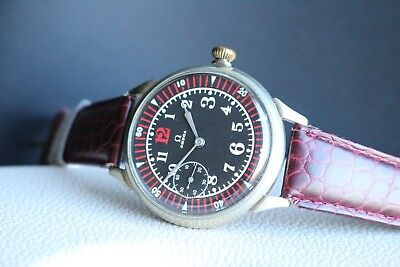 OMEGA Vintage 1936`s CAL 38,5L.T1 MILITARY STYLE rare Men`s Swiss Wrist Watch