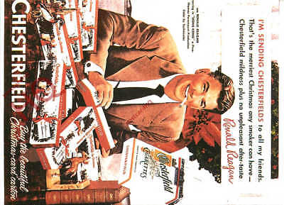 Picture Postcard- Chesterfield Cigarettes Advertising (Repro)