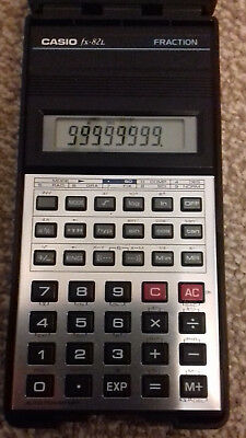 Vintage Retro Casio Fraction Scientific Calculator with Case Fx-82L.