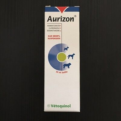AURIZON 10ml Ear Drops For Dog tratament of otits Exp.06/19+Tracking number