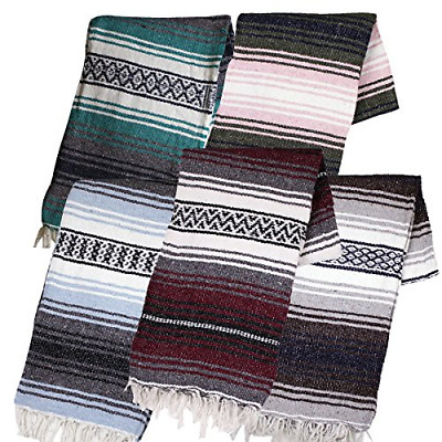 Canyon Creek Authentic Mexican Yoga Falsa Blanket Assorted