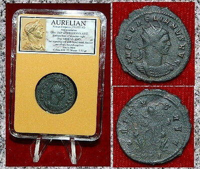 Roman Empire Coin AURELIAN Sol Standing Between Two Seated Captives On Reverse