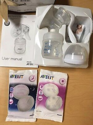 Philips Avent Manual Breast Pump With Baby Feeding Bottle SCF330/30 BPA Free