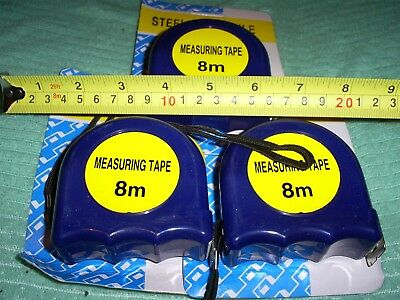 """7.5 Metre Measuring Tapes  1"""" Blade Width 3 Pieces"""