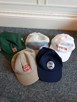 Collection of Toyota Work Baseball Caps x 5