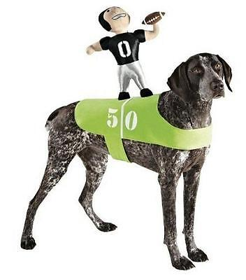 NEW FOOTBALL PLAYER GAME RIDER DOG HALLOWEEN pet COSTUME size S/M up to 50lb