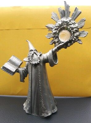 "Vintage Perth Pewter 6"" Wizard of the Crystal Light – Ray Lamb 1987 #FA65"
