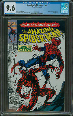 Amazing Spider-Man #361 CGC 9.6 1st appearance Carnage 1st print