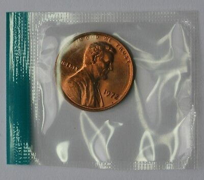 1972 Lincoln Memorial Cent BU Penny US Coin In Mint Cello