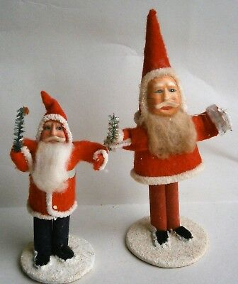 Pair of Vintage Santa Figures made in Japan