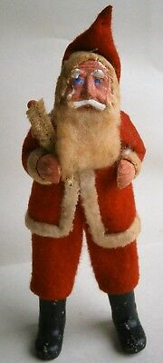 Antique Santa Figure made in Japan, pre-WWII, 5 in. tall