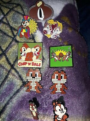 Disney Chip And Dale Trading Pin Collection Lot