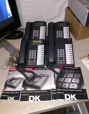 LOT OF 4 Toshiba DKT2010-SD Display Business Office Telephones (used 4 months)