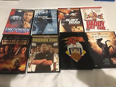 8 DVDs Lot Great Titles - Suspense, Mystery, Action, Adventure, Comedy, Family