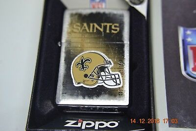 Vintage Nfl New Orleans Saints 2012 Zippo Lighter Unfired New In Box
