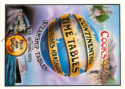Postcard:-Advertising, Cook's Continental Timetables, Thomas Cook (Repro)