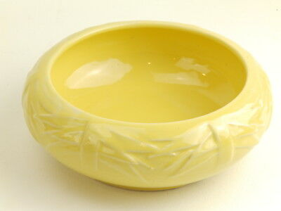 Vintage McCoy Pottery YELLOW Leaves Low Bowl/Flower Pot Jardiniere Planter
