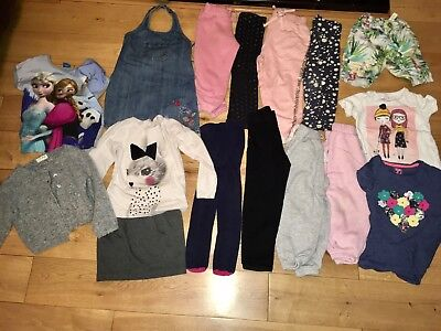 Girls Age 4-5 Years Playwear Bundle Jeans Leggings Denim Pinafore Dress Top Next